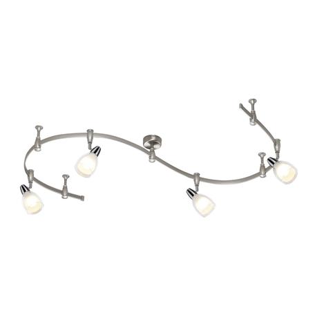 Гибкая система освещения Odeon Light Flexi Chrome 3630/4TR, 4xE14x40W, серебро, белый, прозрачный, хром, металл, стекло