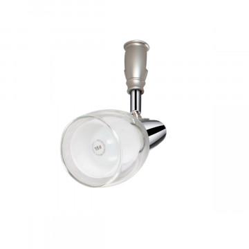 Светильник для гибкой системы Odeon Light Flexi Chrome 3630/1, 1xE14x40W, серебро, белый, прозрачный, хром, металл, стекло