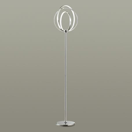 Светодиодный торшер Odeon Light Alfi 4024/63FL, LED 63,6W, 4000K (дневной), хром, металл, пластик