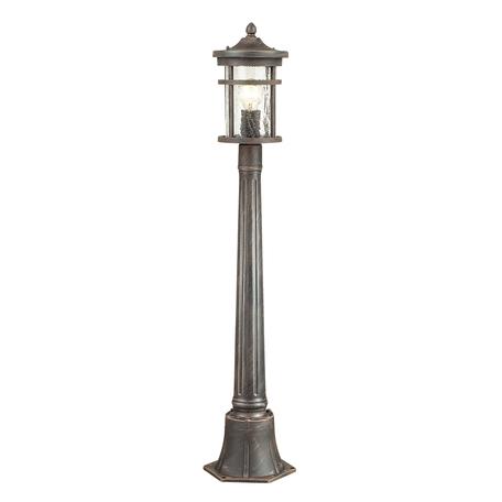 Уличный фонарь Odeon Light Nature Virta 4044/1F, IP44, 1xE27x60W, черный с золотой патиной, прозрачный, металл, металл со стеклом