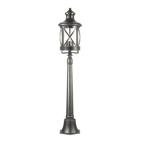 Уличный фонарь Odeon Light Sation 4045/3F, IP44, 3xE14x60W, черный, прозрачный, металл, ковка, металл со стеклом - миниатюра 1