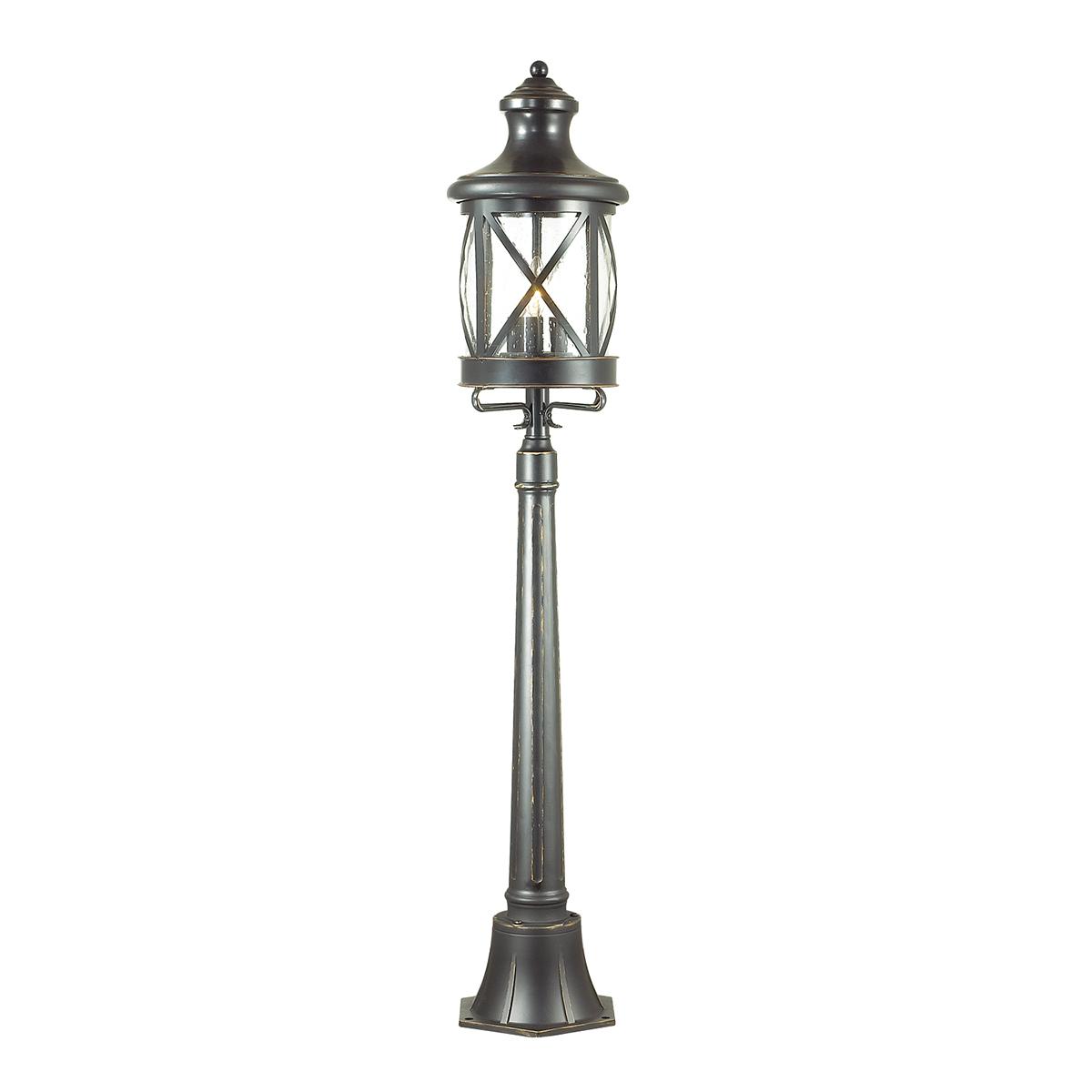 Уличный фонарь Odeon Light Nature Sation 4045/3F, IP44, 3xE14x60W, черный, черный с прозрачным, металл, ковка, металл со стеклом - фото 1