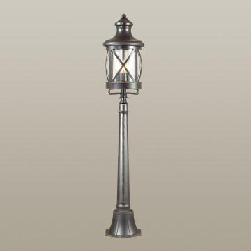 Уличный фонарь Odeon Light Sation 4045/3F, IP44, 3xE14x60W, черный, прозрачный, металл, ковка, металл со стеклом - миниатюра 2