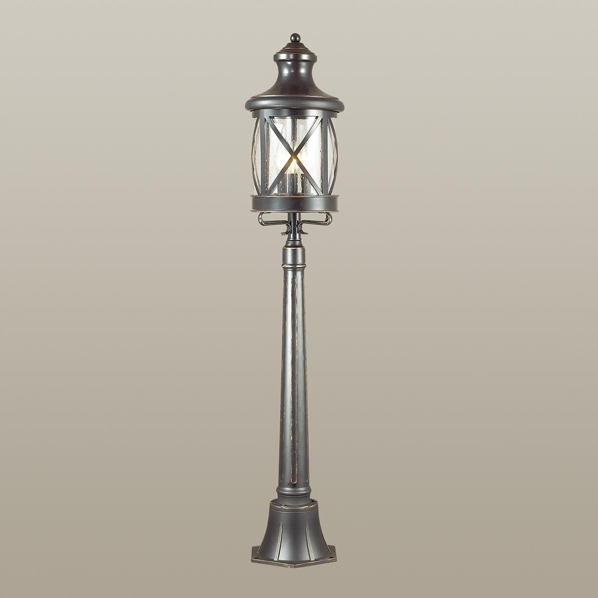Уличный фонарь Odeon Light Sation 4045/3F, IP44, 3xE14x60W, черный, прозрачный, металл, ковка, металл со стеклом - фото 2