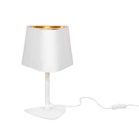 Настольная лампа Loft It Nuage LOFT1163T-WH, 1xE14x40W, белый, белый с золотом, металл, текстиль