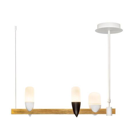 Подвесной светодиодный светильник Loft It Whisper 1028-3WH, LED 15W 3000K, матовое золото с белым, белый, металл, стекло