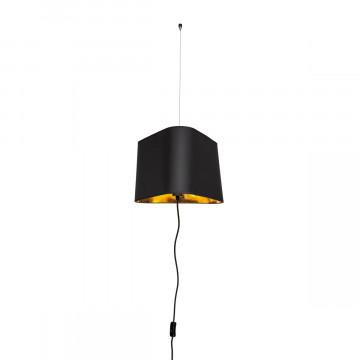 Подвесной светильник-торшер Loft It Nuage LOFT1167F-BL, 1xE27x40W, черный, черный с золотом, металл, текстиль