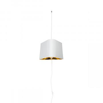 Подвесной светильник-торшер Loft It Nuage LOFT1167F-WH, 1xE27x40W, белый, белый с золотом, металл, текстиль