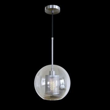 Подвесной светильник Loft It Hexagon LOFT2567-B, 1xE27x60W, никель, никель с прозрачным, металл, стекло с металлом - миниатюра 3