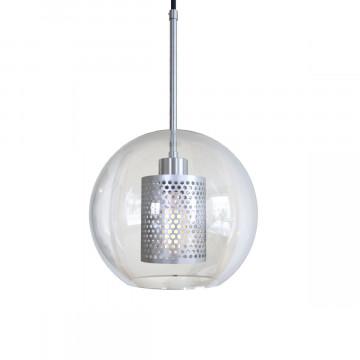 Подвесной светильник Loft It Hexagon LOFT2567-B, 1xE27x60W, никель, никель с прозрачным, металл, стекло с металлом - миниатюра 4
