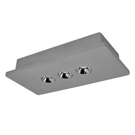 Потолочный светодиодный светильник Loft It Architect OL1072-GH/3, LED 12,6W 3000K 720lm, серый с хромом, бетон