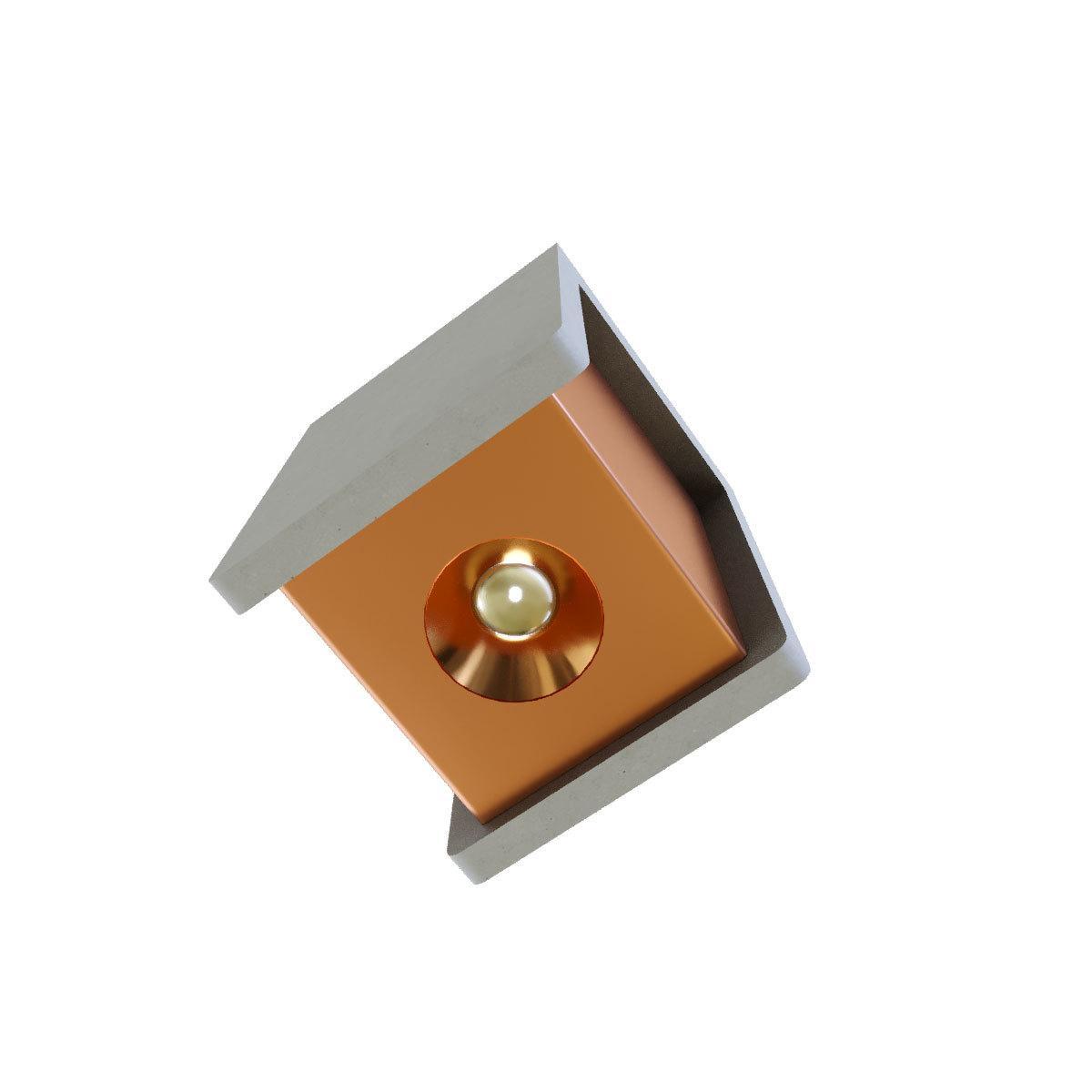 Потолочный светодиодный светильник Loft It Architect OL1073-GG, LED 6W 3000K 260lm, серый с золотом, бетон с металлом - фото 2