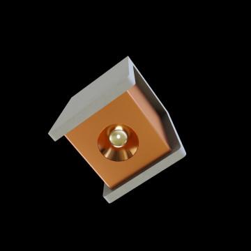 Потолочный светодиодный светильник Loft It Architect OL1073-GG, LED 6W 3000K 260lm, серый с золотом, бетон с металлом - миниатюра 3
