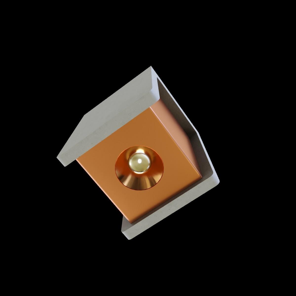 Потолочный светодиодный светильник Loft It Architect OL1073-GG, LED 6W 3000K 260lm, серый с золотом, бетон с металлом - фото 3