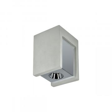 Потолочный светодиодный светильник Loft It Architect OL1073-GH, LED 6W 3000K 260lm, серый с хромом, хром с серым, бетон с металлом