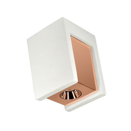 Потолочный светодиодный светильник Loft It Architect OL1073-WG, LED 6W 3000K 260lm, белый с золотом, золото с белым, гипс с металлом