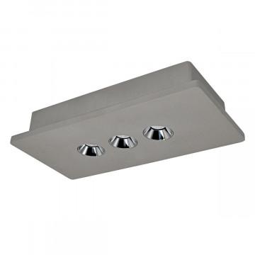 Потолочный светодиодный светильник Loft It Architect OL1072-GH/3, LED 12,6W 3000K 720lm, серый с хромом, бетон - миниатюра 1