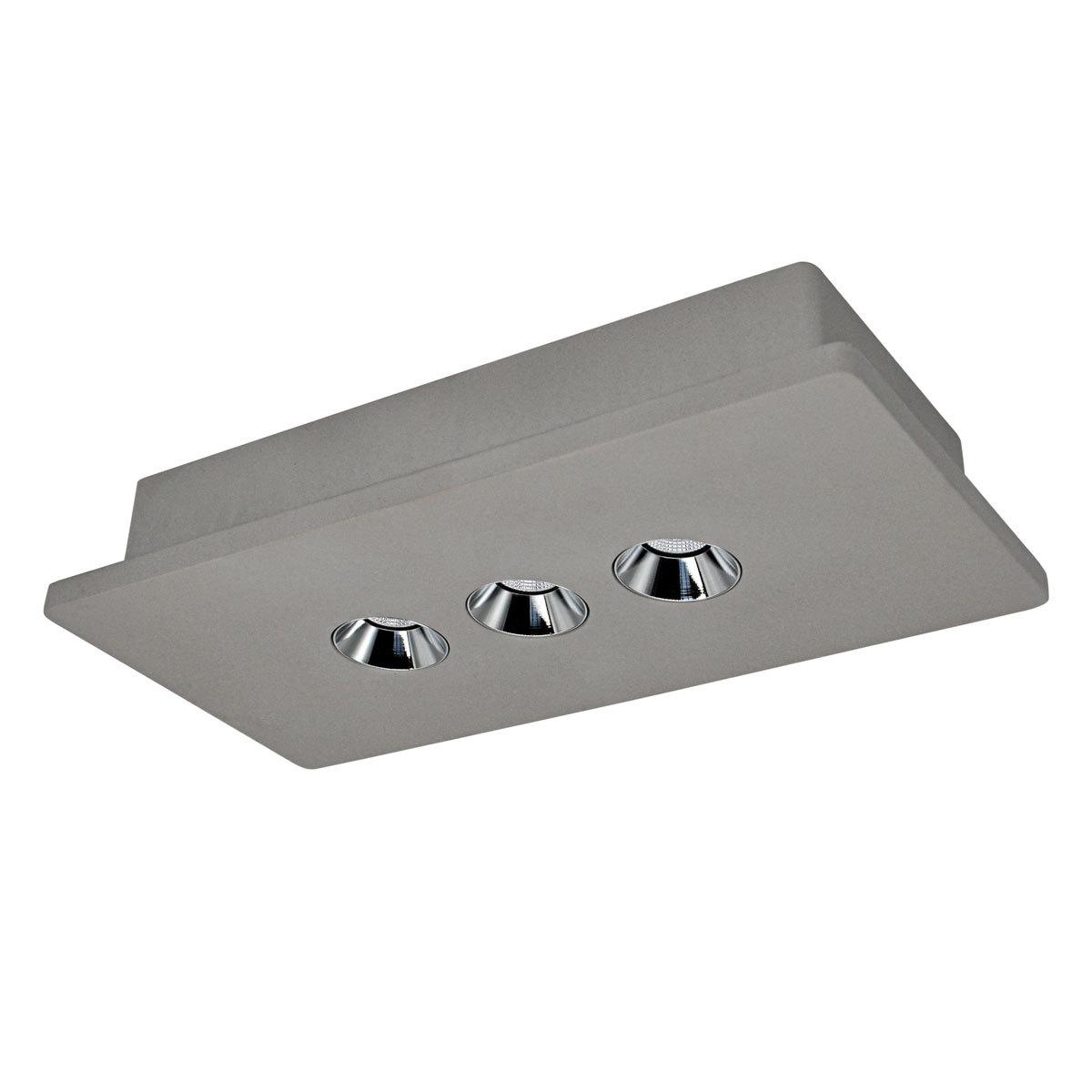 Потолочный светодиодный светильник Loft It Architect OL1072-GH/3, LED 12,6W 3000K 720lm, серый с хромом, бетон - фото 1