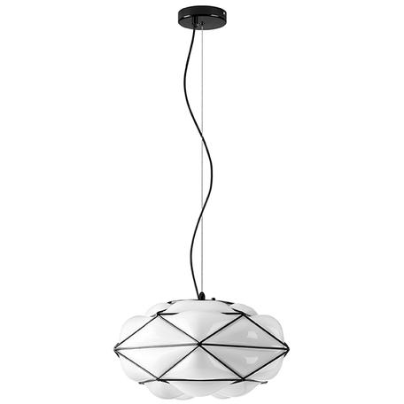 Подвесной светильник Lightstar Erbareo 799030, 1xE27x60W, черный, черно-белый, металл, стекло