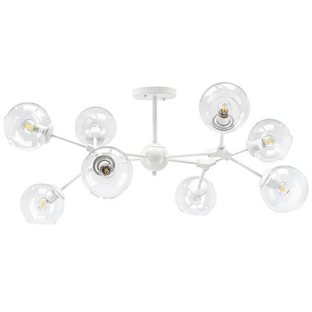 Потолочная люстра Lightstar Beta 785086, 8xE27x40W, белый, прозрачный, металл, стекло
