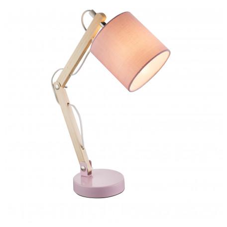 Настольная лампа Globo Mattis 21513, 1xE14x40W, дерево, металл, текстиль