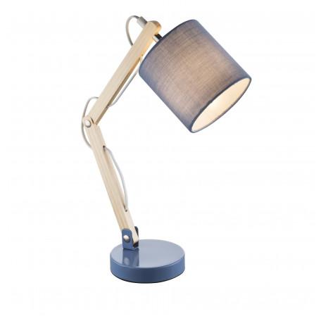 Настольная лампа Globo Mattis 21514, 1xE14x40W, дерево, текстиль