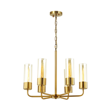 Подвесная люстра Odeon Light Country Stepi 4659/6, 6xE27x60W, золото, прозрачный, металл, стекло