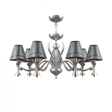 Подвесная люстра Maytoni Lamp4You Modern 8 M3-07-DN-LMP-O-21, 7xE14x40W, никель, черный, металл, текстиль
