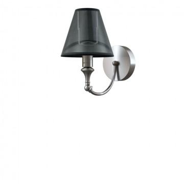 Бра Maytoni Lamp4You Modern 8 M-01-DN-LMP-O-21, 1xE14x40W, никель, черный, металл, текстиль
