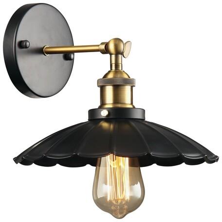 Бра с регулировкой направления света Velante 385-521-01, 1xE27x60W, черный, бронза, металл
