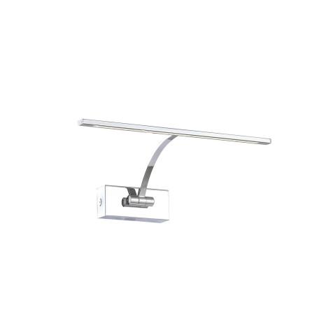 Настенный светодиодный светильник для подсветки картин ST Luce Minare SL595.011.01, LED 5W 4000K, хром, белый, металл