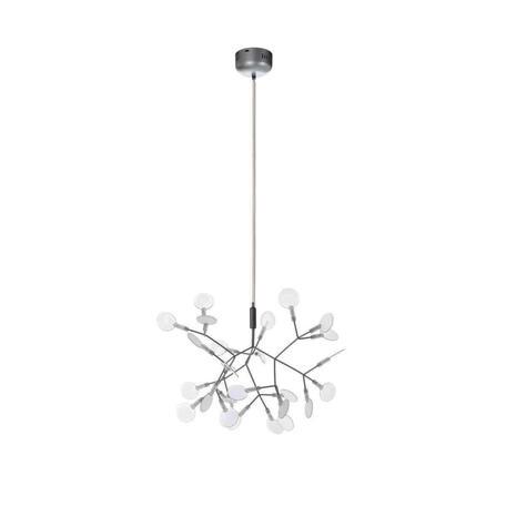 Подвесная светодиодная люстра Loft It Heracleum 9022-27S, LED 8W, серебро, белый, металл, пластик
