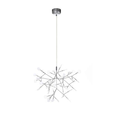 Подвесная светодиодная люстра Loft It Heracleum 9022-45S, LED 13W, серебро, белый, металл, пластик