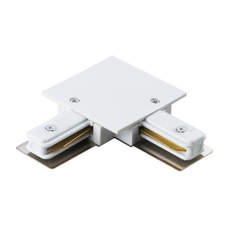 L-образный соединитель для встраиваемого шинопровода Lightstar Barra 501126, белый, пластик