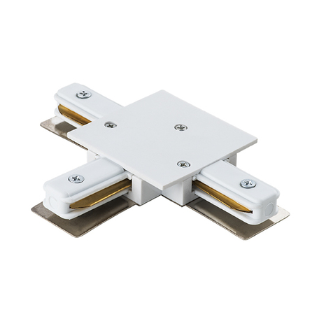 T-образный соединитель для встраиваемого шинопровода Lightstar Barra 501136, белый, пластик