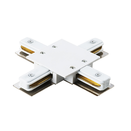 X-образный соединитель для шинопровода Lightstar Barra 501146, белый, пластик