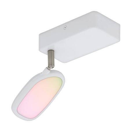 Настенный светодиодный светильник с регулировкой направления света с пультом ДУ Eglo Connect Palombare-C 97691, LED 5W 2700-6500K 600lm, белый, металл, пластик