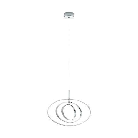 Подвесной светодиодный светильник Eglo Pausia 97435, LED 18W 3000K 2700lm, хром, металл, металл с пластиком, пластик