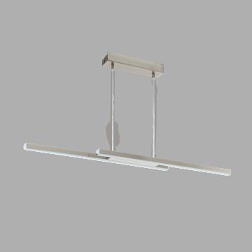 Подвесной светодиодный светильник с пультом ДУ Eglo Fraioli-C 97907, LED 34W 2700-6500K + RGB 2300lm CRI>80, никель, металл, металл с пластиком, пластик