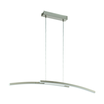 Подвесной светодиодный светильник с пультом ДУ Eglo Fraioli-C 97911, LED 34W 2700-6500K + RGB 2300lm CRI>80, никель, металл, металл с пластиком, пластик