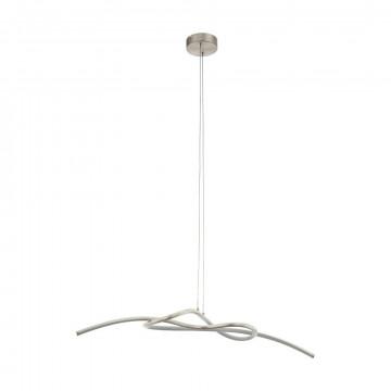 Подвесной светодиодный светильник Eglo Novafeltria 97938, LED 16W 3000K 1600lm, никель, металл, металл с пластиком, пластик
