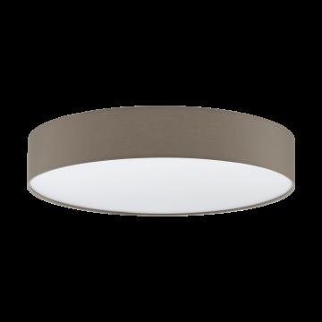 Потолочный светодиодный светильник с пультом ДУ Eglo Romao 1 97778, LED 40W 3000-5000K 4000lm, белый, серый, металл, текстиль, пластик