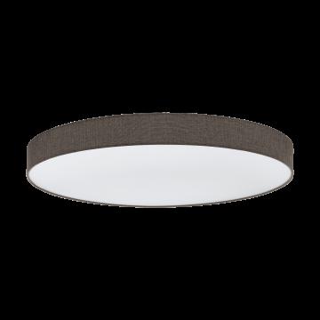 Потолочный светодиодный светильник с пультом ДУ Eglo Romao 97789, LED 80W 3000-5000K 7800lm, белый, коричневый, металл, текстиль, пластик