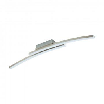 Потолочный светодиодный светильник с пультом ДУ Eglo Connect Fraioli-C 97909, LED 34W 2700-6500K + RGB 2300lm CRI>80, никель, металл, металл с пластиком, пластик
