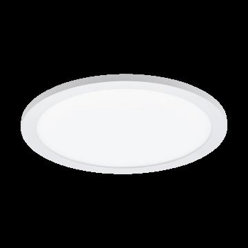 Потолочный светодиодный светильник с пультом ДУ Eglo Sarsina-C 97958, LED 16W 2700-6500K + RGB 2100lm CRI>80, белый, металл, металл с пластиком, пластик