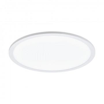 Потолочный светодиодный светильник с пультом ДУ Eglo Connect Sarsina-C 97959, LED 21W 2700-6500K + RGB 2900lm CRI>80, белый, металл, металл с пластиком, пластик