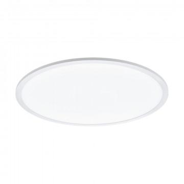 Потолочный светодиодный светильник с пультом ДУ Eglo Connect Sarsina-C 97961, LED 34W 2700-6500K + RGB 4250lm CRI>80, белый, металл, металл с пластиком, пластик