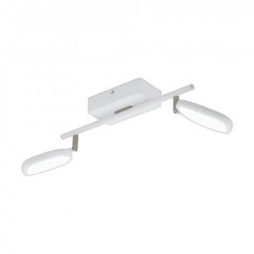 Потолочный светодиодный светильник с регулировкой направления света с пультом ДУ Eglo Connect Palombare-C 97692, LED 10W 2700-6500K + RGB 1200lm, белый, металл, пластик