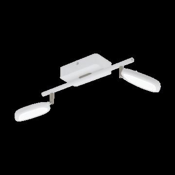 Потолочный светодиодный светильник с регулировкой направления света с пультом ДУ Eglo Palombare-C 97692, 2700-6500K/RGB, белый, хром, металл, пластик
