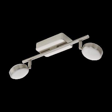 Потолочный светодиодный светильник с регулировкой направления света с пультом ДУ Eglo Corropoli-C 97715, 2700-6500K/RGB, никель, металл, пластик